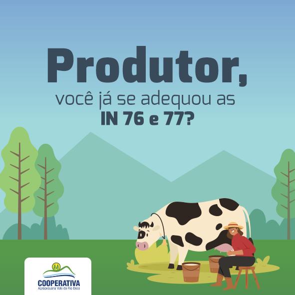 INs 76 e 77 estabelecem regras para o fornecimento de leite