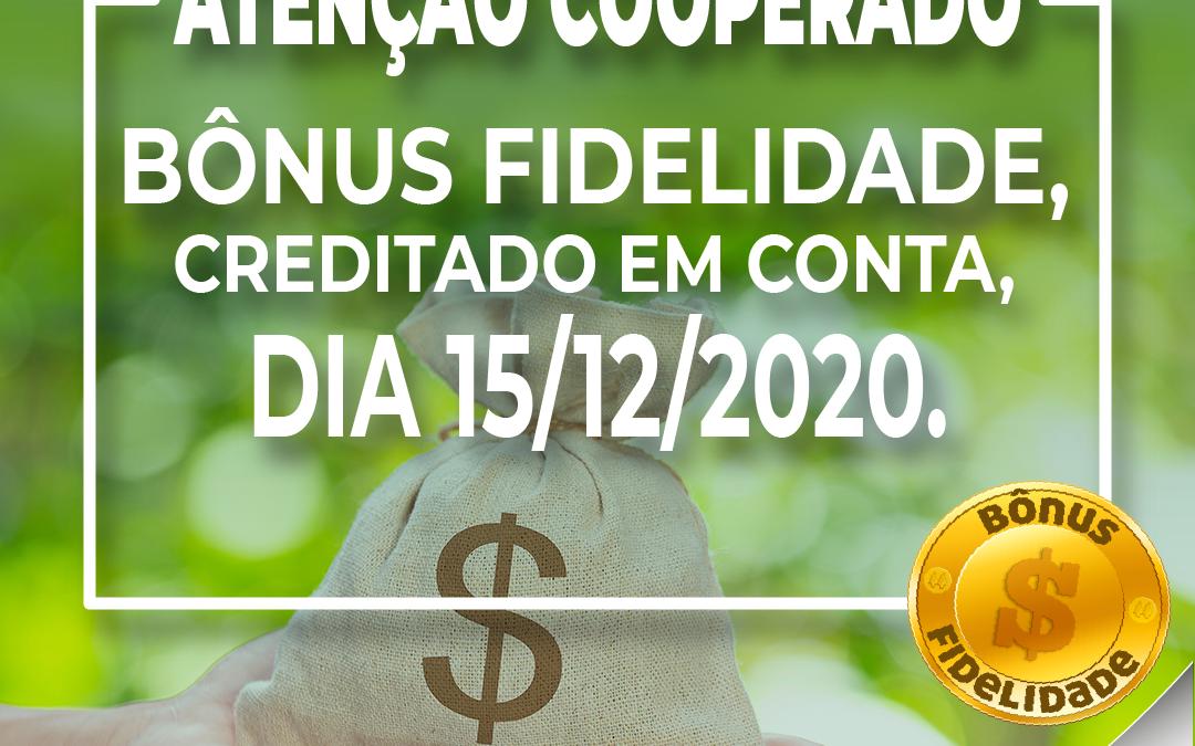 Cooperativa irá distribuir mais de 2 milhões e meio de reais neste mês de dezembro