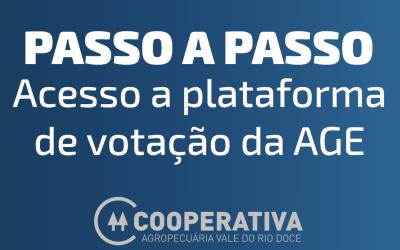 PASSO A PASSO DE COMO ACESSAR A PLATAFORMA DE TRANSMISSÃO DA AGE