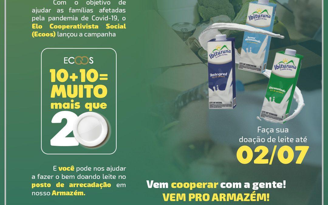 Cooperativas de Valadares se unem na arrecadação de alimentos